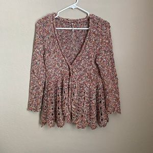 Free People Loose Knit Cardigan Size Small